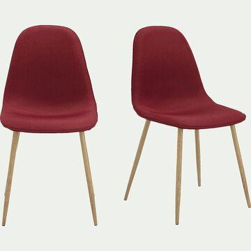 Chaise en tissu - rouge-CHARLIE
