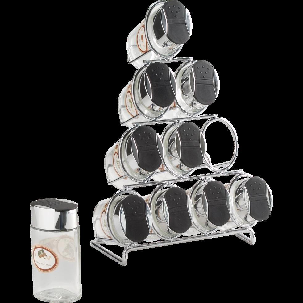 Porte épices avec 10 pots en verre-CURRY