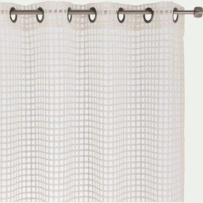 Voilage à œillet en polyester ajouré - écru 140x260cm-DELIL