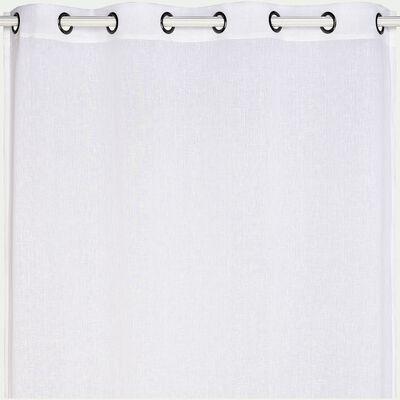 Voilage à œillets en polyester - blanc ventoux 135x360cm-DUNE
