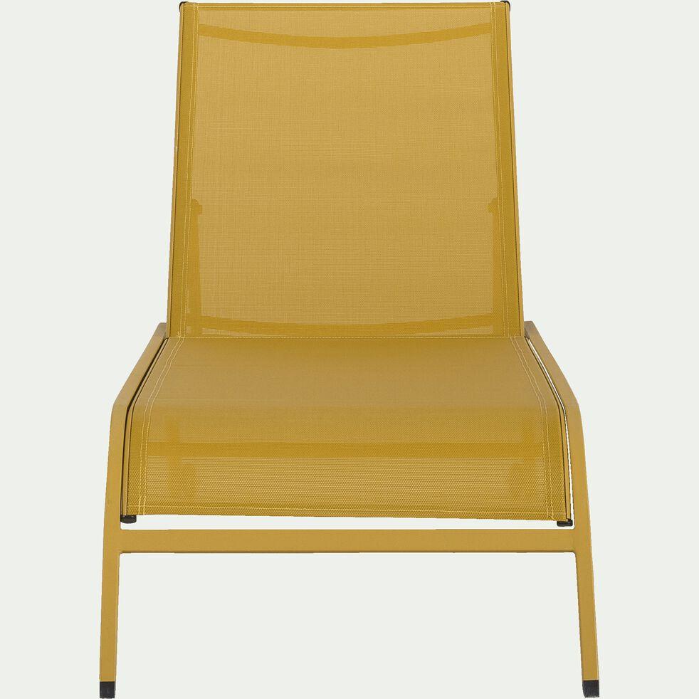 Bain de soleil en aluminium et textilène - jaune argan-Hari