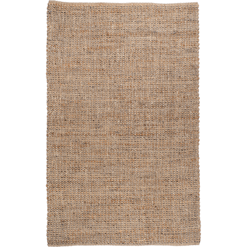 Tapis tressé en jute gris et naturel 160x230cm-NIOLON