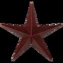 Suspension étoile en papier rouge H30cm-ROSOLINE