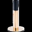 Bougeoir noir et doré H15cm-CYME