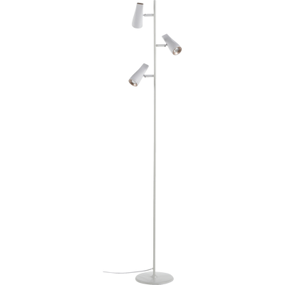 Lampadaire à 3 spots en métal blanc H150cm-CESAR