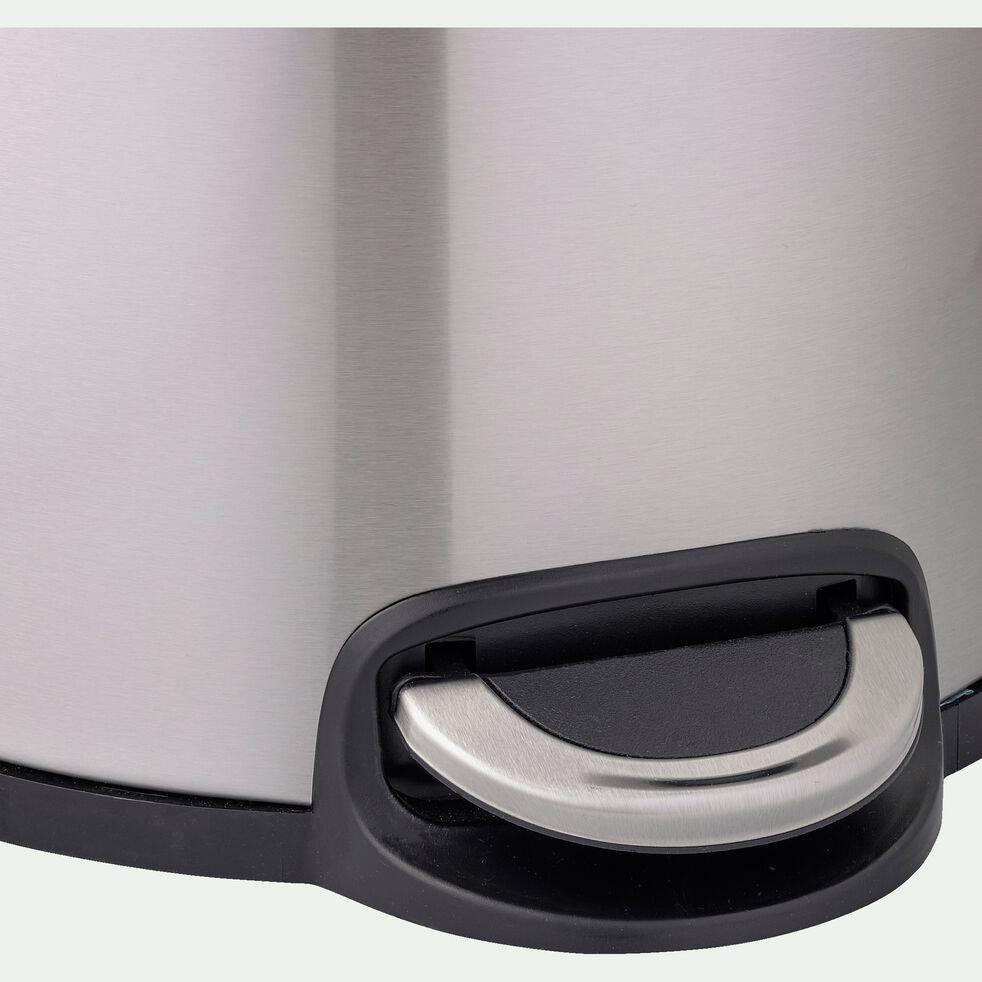 Poubelle en inox - gris 20L-PAVOUN