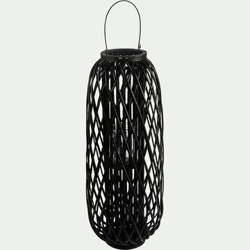 Lanterne en osier - noir D33xH82cm-NINA