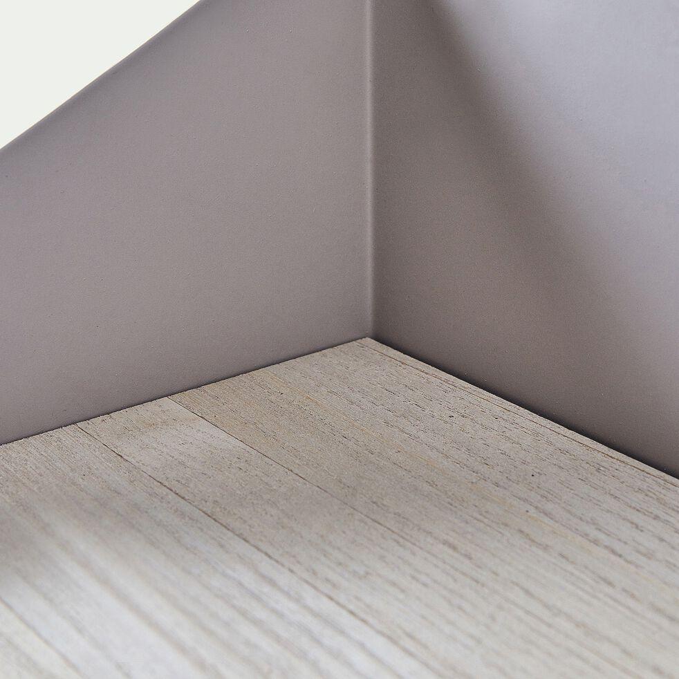 Étagère murale forme vagues - beige l50cm-Maëlis
