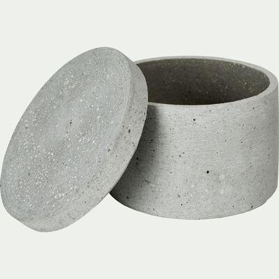 Boîte déco ronde effet béton-CALCIS