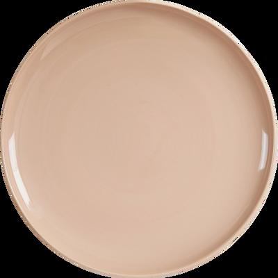 Assiette plate bicolore en faïence orange D27cm-CANOPE