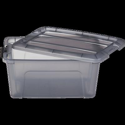 Boîte avec couvercle en plastique grise 15L-NEW TOP