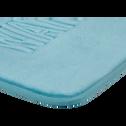 Tapis de bain 50x50cm à mémoire de forme bleu-WATER