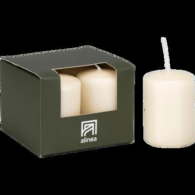4 bougies votives beige roucas-HALBA