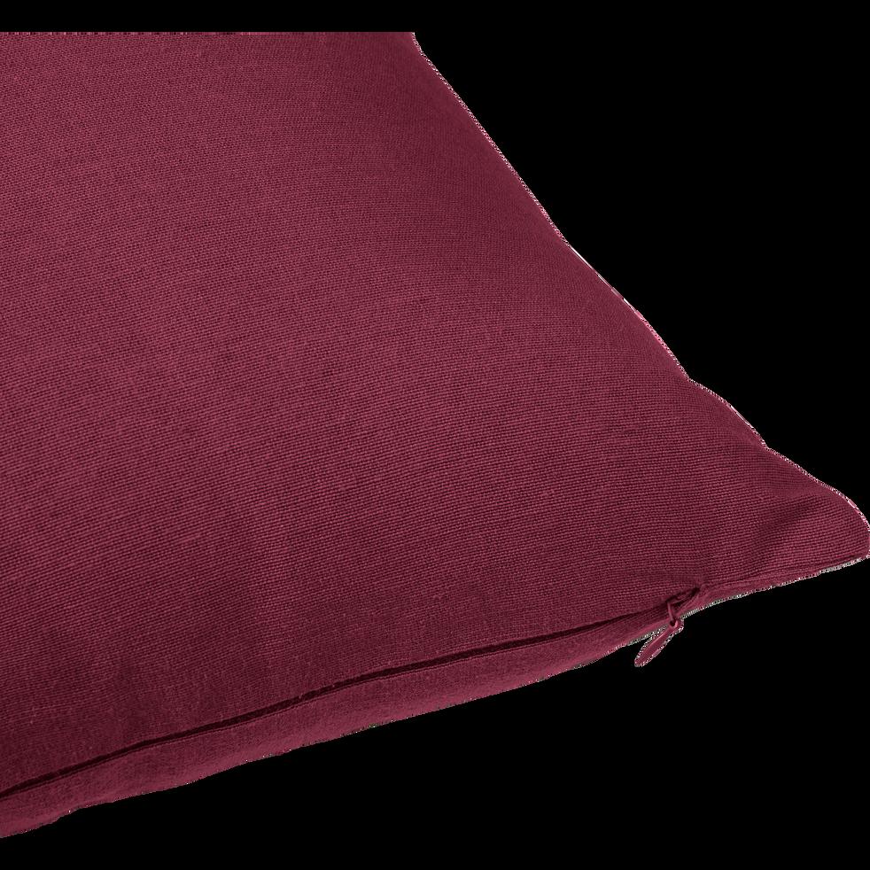 Coussin en coton rouge sumac 40x60cm-CALANQUES