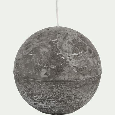 Bougie ronde gris restanque D10cm-BEJAIA
