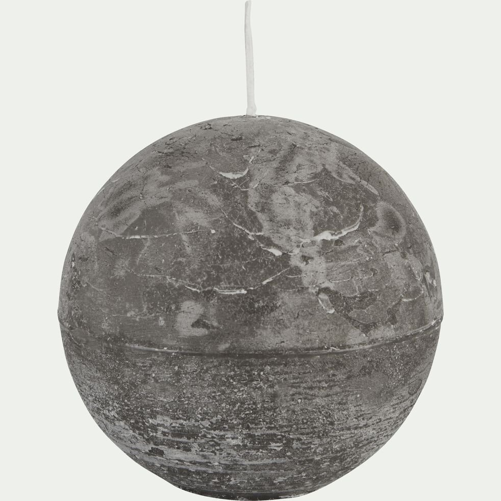 Bougie ronde - gris restanque D10cm-BEJAIA