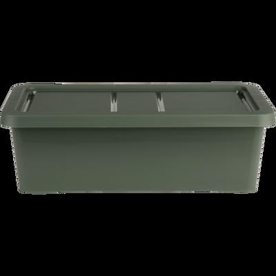 Boîte de rangement en plastique vert H19xP10,5x34 cm-ANDATI