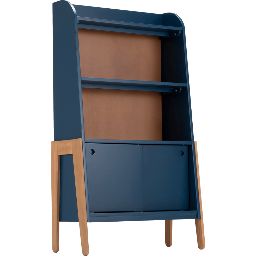 biblioth que en acacia pour enfant bleu figuerolles raphael tag res et biblioth ques enfant. Black Bedroom Furniture Sets. Home Design Ideas