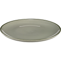 Assiette plate en faïence vert olivier D27cm-LANKA