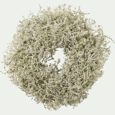 Couronne verte de fleurs d'asperge D35cm-ANNAM