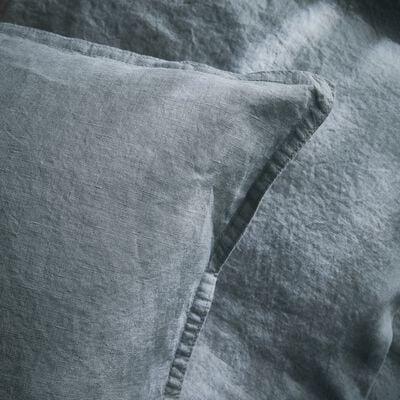 Lot de 2 taies d'oreiller en lin Gris restanque 50x70cm-VENCE