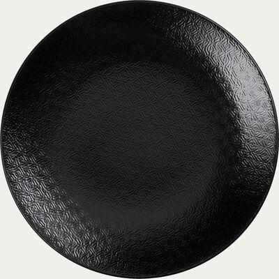 Assiette à dessert noire en grès D21cm-BAHNA