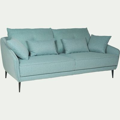 Canapé 3 places fixe en tissu - vert d'eau-DOME
