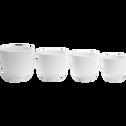 Cache-pot blanc mat en céramique (plusieurs tailles)-TUSCA