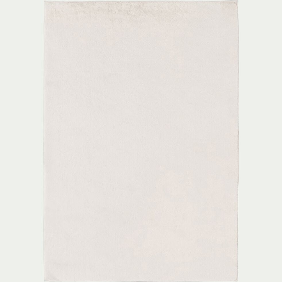 Tapis imitation fourrure - blanc ventoux 100x150cm-ROBIN