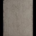 tapis tressé en jute motifs losange 160x230cm-CORDE