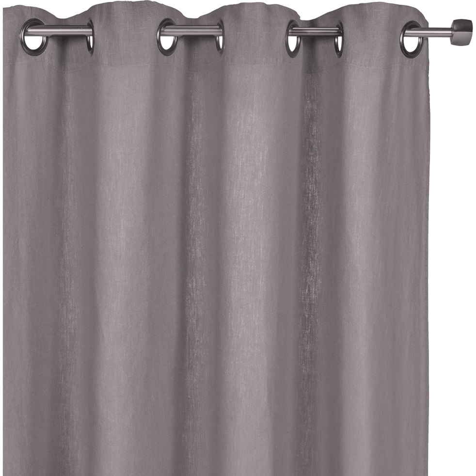 Rideau A Oeillets En Lin Lave Gris Restanque 140x280cm Vence Alinea