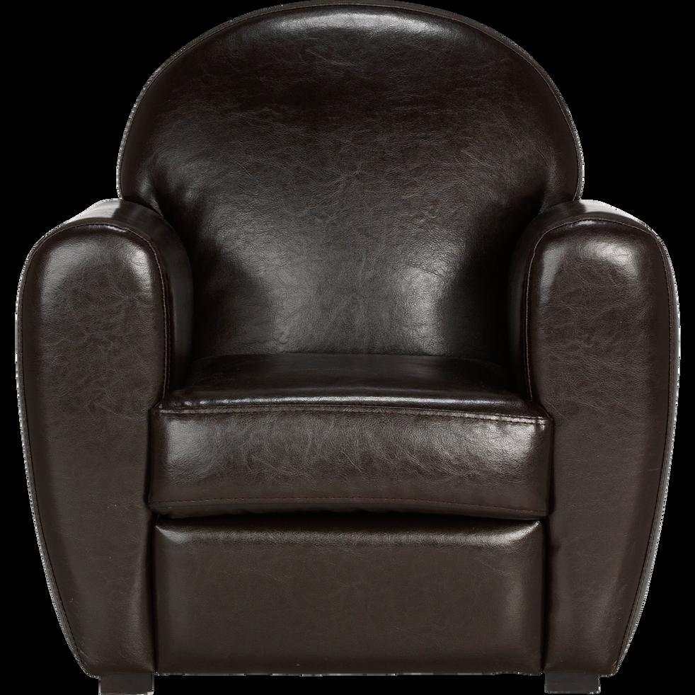fauteuil club enfant marron chocolat en simili habana fauteuils et poufs enfant alinea. Black Bedroom Furniture Sets. Home Design Ideas