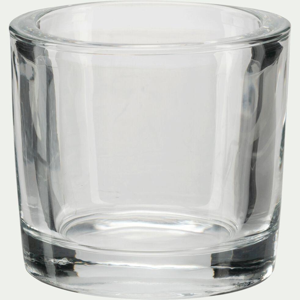 Photophore en verre transparent H10cm-Triope