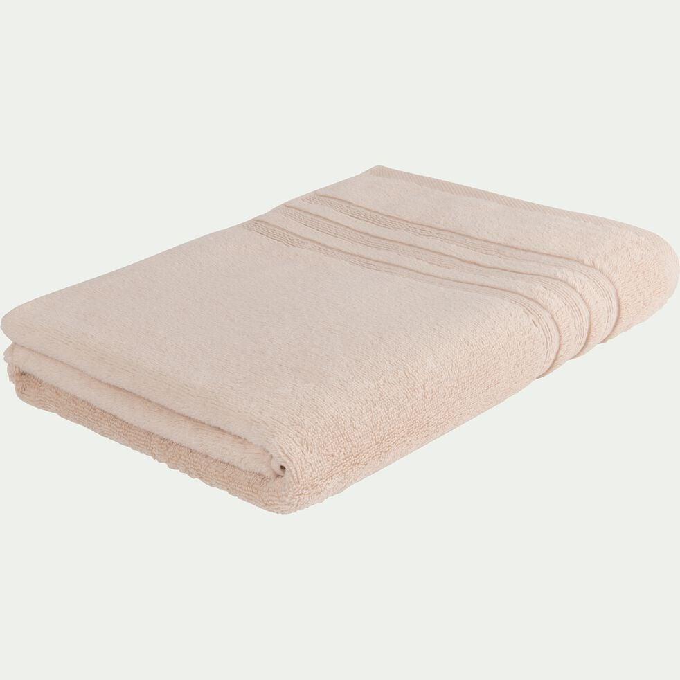 Drap de bain bouclette en coton - rose grège 100x150cm-Noun