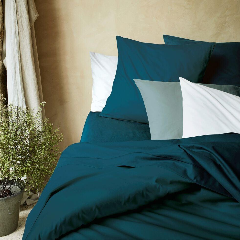 Housse de couette en coton - bleu figuerolles 260x240cm-CALANQUES