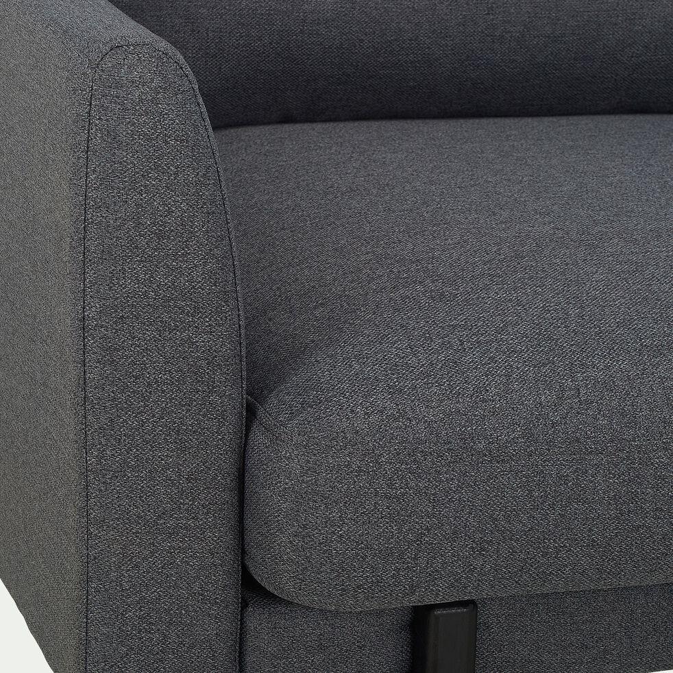 Canapé grand angle en tissu - gris restanque-CARLES