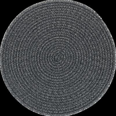 Set de table en coton bleu D38cm-NAVOI