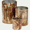 Photophore en verre cuivré D12xH17cm-KAPPA