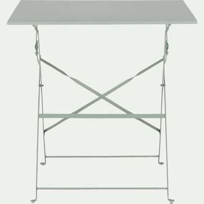 Table de jardin pliante vert olivier L70cm (2 places)-CERVIONE