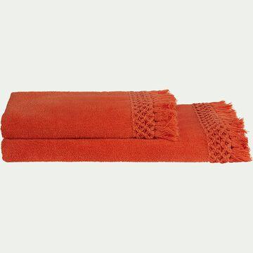 Linge de toilette orange corail-BAHA