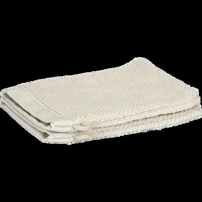 Lot de 2 gants de toilette beige roucas-COLINE
