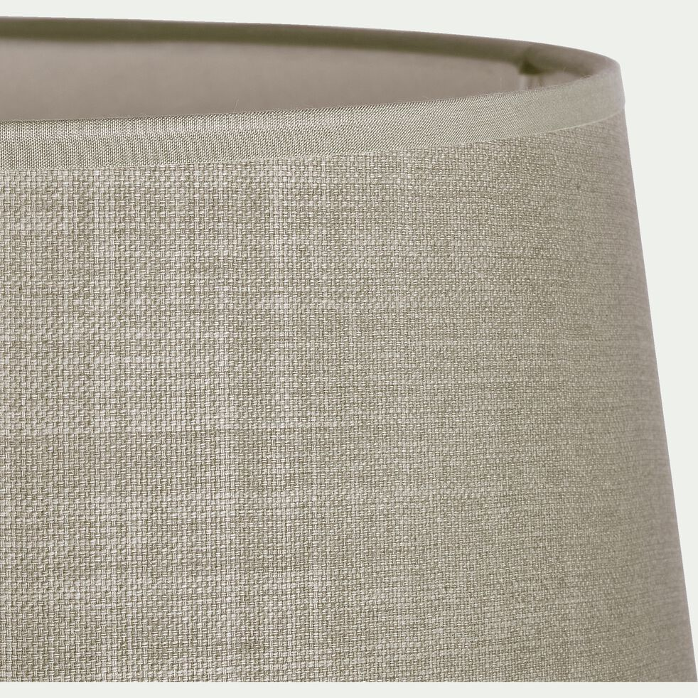 Abat-jour tambour en coton - D33cm vert olivier-MISTRAL