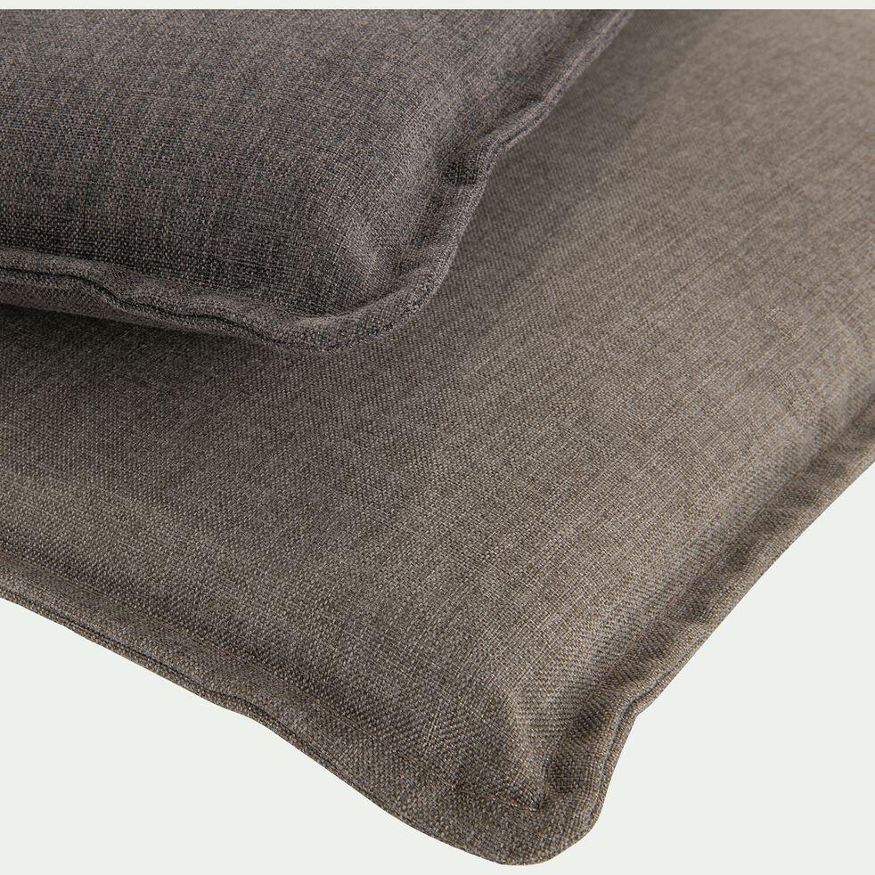 Coussin de chaise déperlante gris 42x42cm-OPIO