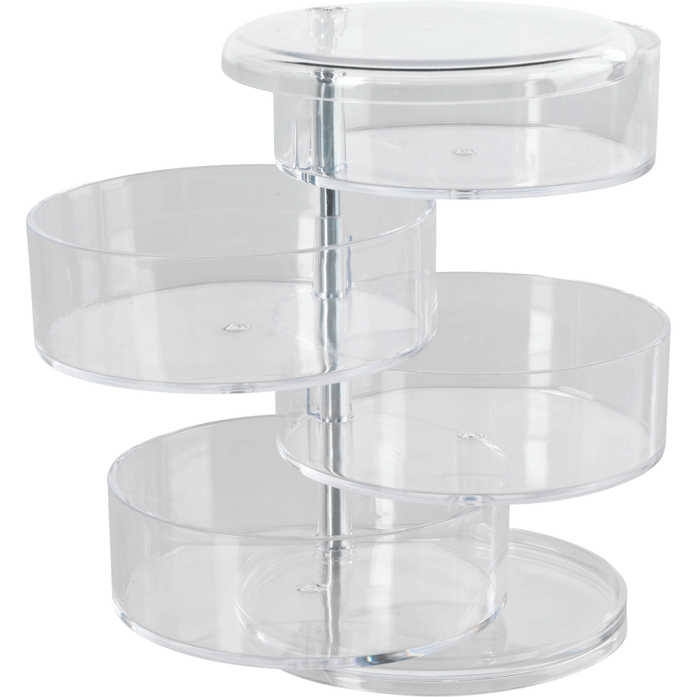 boite de rangement transparente 4 niveaux pivotants ice d co alinea. Black Bedroom Furniture Sets. Home Design Ideas