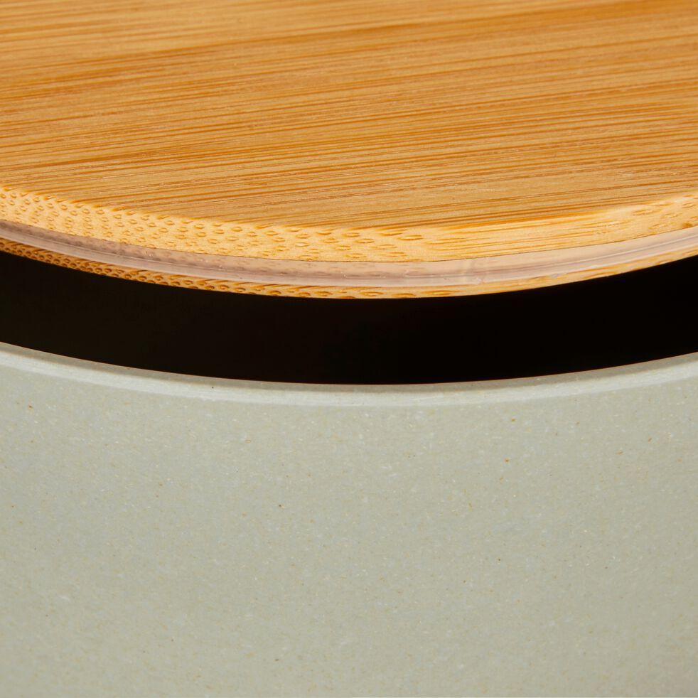Saladier en fibre de bambou vert D20,5cm-TREZ