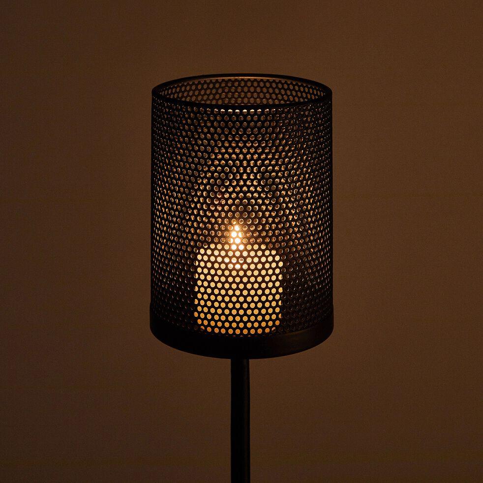 Photophore en métal - noir H120cm-MELUSINE