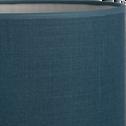 Abat-jour en tissu bleu figuerolles D30cm-MISTRAL