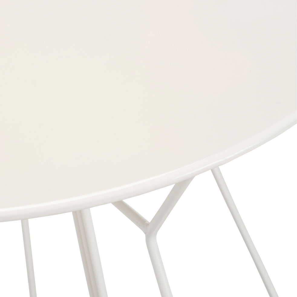 Table de jardin ronde blanche (2 places)-ALEXIA