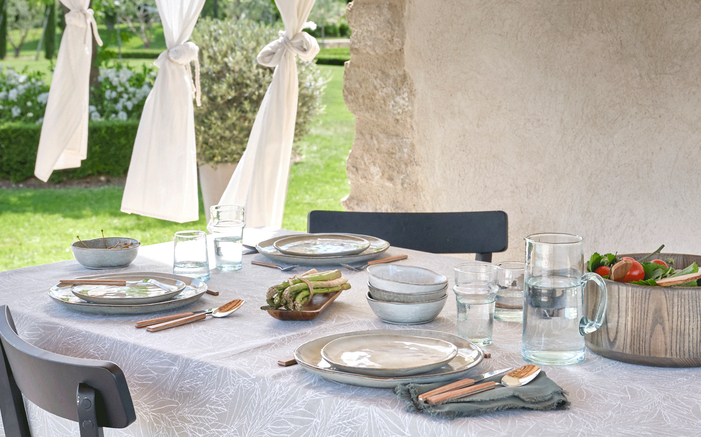 Couverts à  salade en bois d'olivier-Olivia