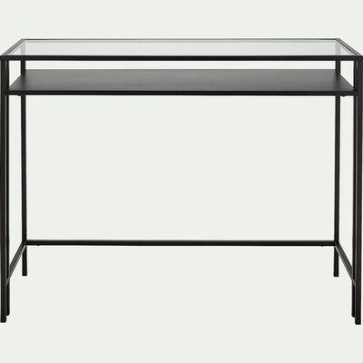 Console en verre et métal - noir L100xP35xH78cm-HENU